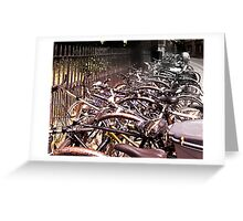 'cycle mania in Oxford. Greeting Card