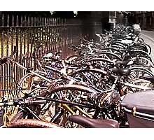 'cycle mania in Oxford. Photographic Print
