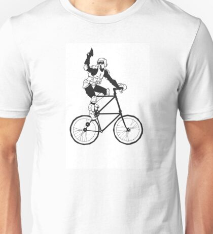 The Scout Trooper Tall Bike Design Unisex T-Shirt