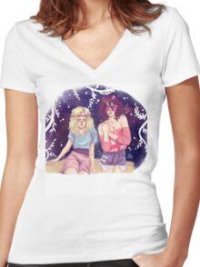 Historia & Mikasa Women's Fitted V-Neck T-Shirt
