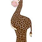 Giraffe Grin by redqueenself