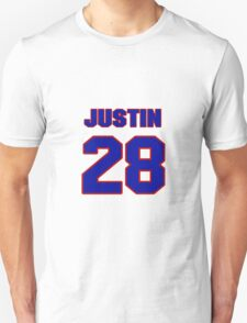 National Hockey player Justin Faulk jersey 28 T-Shirt
