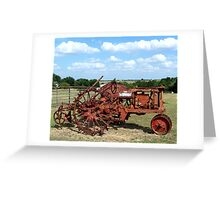 Old Farmall Tractor Greeting Card
