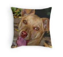 Happy :) Throw Pillow