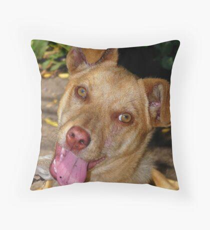 Happy :) Throw Pillow