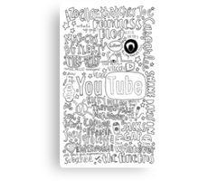 Youtubers Collage(b&w) Canvas Print