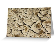 Parched Earth Abstract Greeting Card