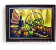 Still Life with Basket Canvas Print
