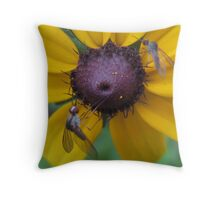 black-eyed susan and friends Throw Pillow