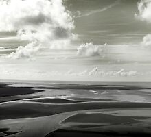English Channel outside of Mont Saint Michel by Enos