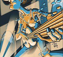 5 String Bass Assault by grosvenordesign