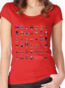 Super Sentai 40th Anniversary 1975-2015 Women's Fitted Scoop T-Shirt