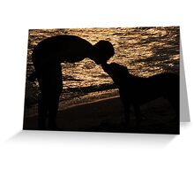 Sunset kiss Greeting Card