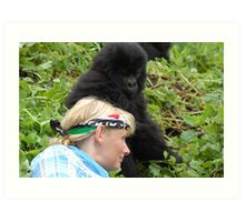 Touched by Gorillas Art Print