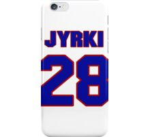 National Hockey player Jyrki Seppa jersey 28 iPhone Case/Skin