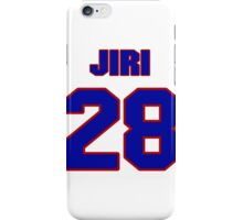 National Hockey player Jiri Slegr jersey 28 iPhone Case/Skin