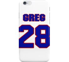 National Hockey player Greg Smyth jersey 28 iPhone Case/Skin