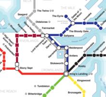 Game of Thrones - Metroros System Map Sticker