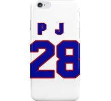 National Hockey player P.J. Stock jersey 28 iPhone Case/Skin