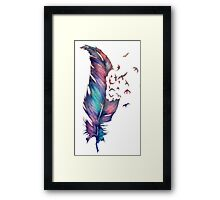 Flying Feather Framed Print