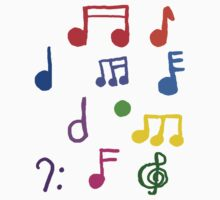 Colorful Music Notes  by Rajee