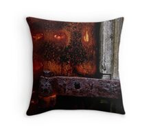 Rust and Wood Throw Pillow