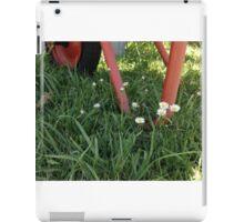 Wheelbarrow and Daisies iPad Case/Skin