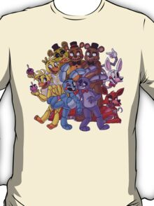 FNAF- The Gang's All Here T-Shirt