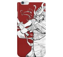 The Geisha who would be a Samurai iPhone Case/Skin
