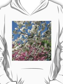 Blue Sky and Beautiful Blossoms T-Shirt