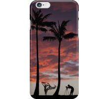 Shooting the breeze iPhone Case/Skin