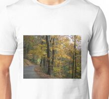 Curvy Autumn Country Road Unisex T-Shirt