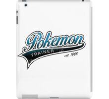 Pokemon Trainer_Blue_Vintage iPad Case/Skin