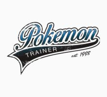 Pokemon Trainer_Blue_Vintage by Lisa Richmond