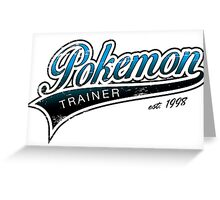Pokemon Trainer_Blue_Vintage Greeting Card