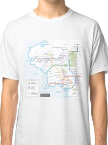 Middle Earth Transit Map Classic T-Shirt