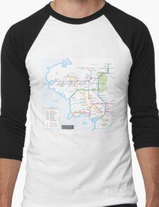 Middle Earth Transit Map Men's Baseball ¾ T-Shirt