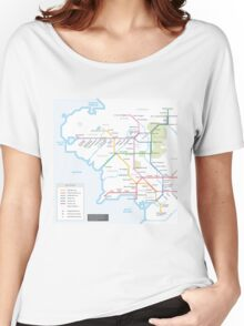 Middle Earth Transit Map Women's Relaxed Fit T-Shirt