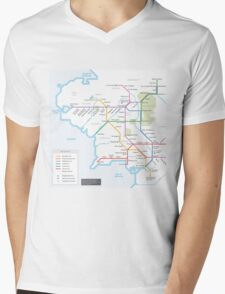 Middle Earth Transit Map Mens V-Neck T-Shirt