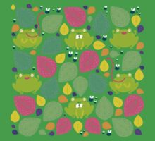 Frog Pattern Kids Clothes