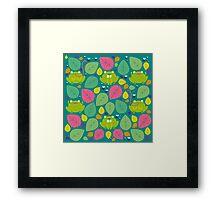 Frog Pattern Framed Print