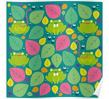 Frog Pattern Poster