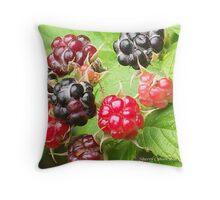 Nature's Berries Throw Pillow