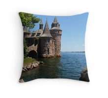 Power House and Clock Tower Throw Pillow