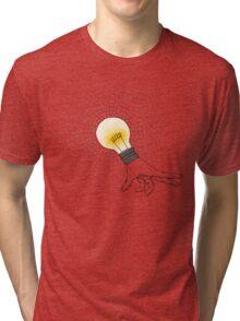 Runaway Idea lightbulb hand Tri-blend T-Shirt