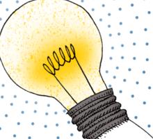 Runaway Idea lightbulb hand Sticker