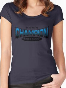 Pokemon Champion_Blue Women's Fitted Scoop T-Shirt
