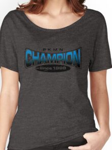 Pokemon Champion_Blue Women's Relaxed Fit T-Shirt