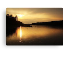 Sunset On Moon River Canvas Print
