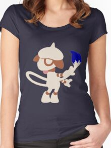 The Painter - Blue Women's Fitted Scoop T-Shirt